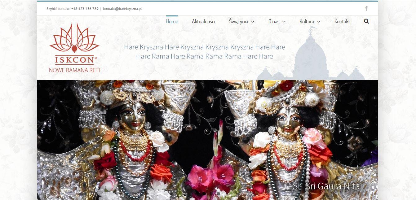 Przebudowa strony internetowej - Hare Kryszna Warszawa